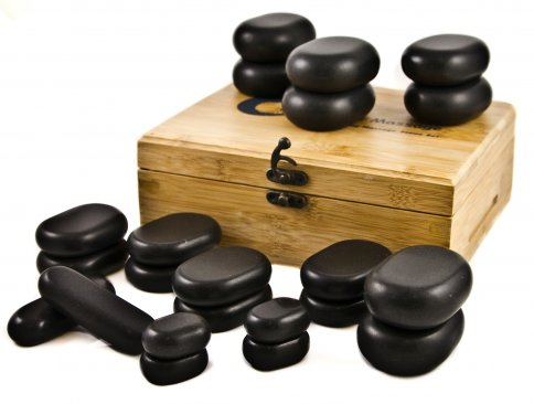 Hot Stone Massage - Set Mini con 22 Pietre Laviche